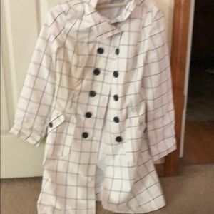 White plaid dress coat 🧥